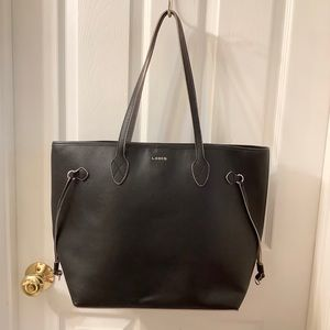 Lodis Bliss Black Leather Tote
